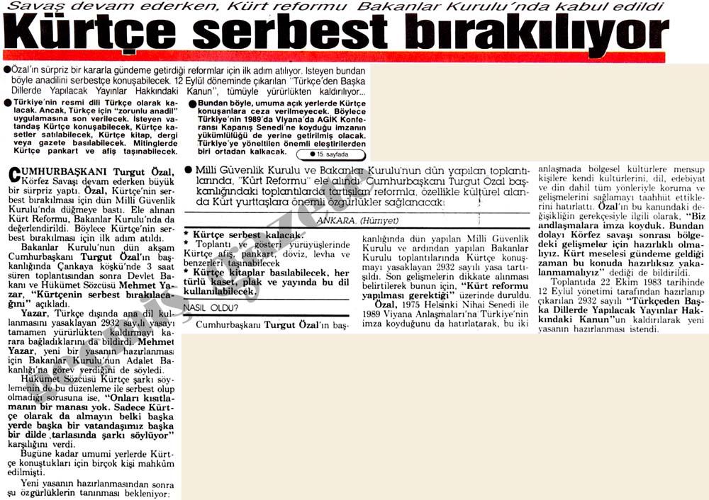Kürtçe serbest bırakılıyor