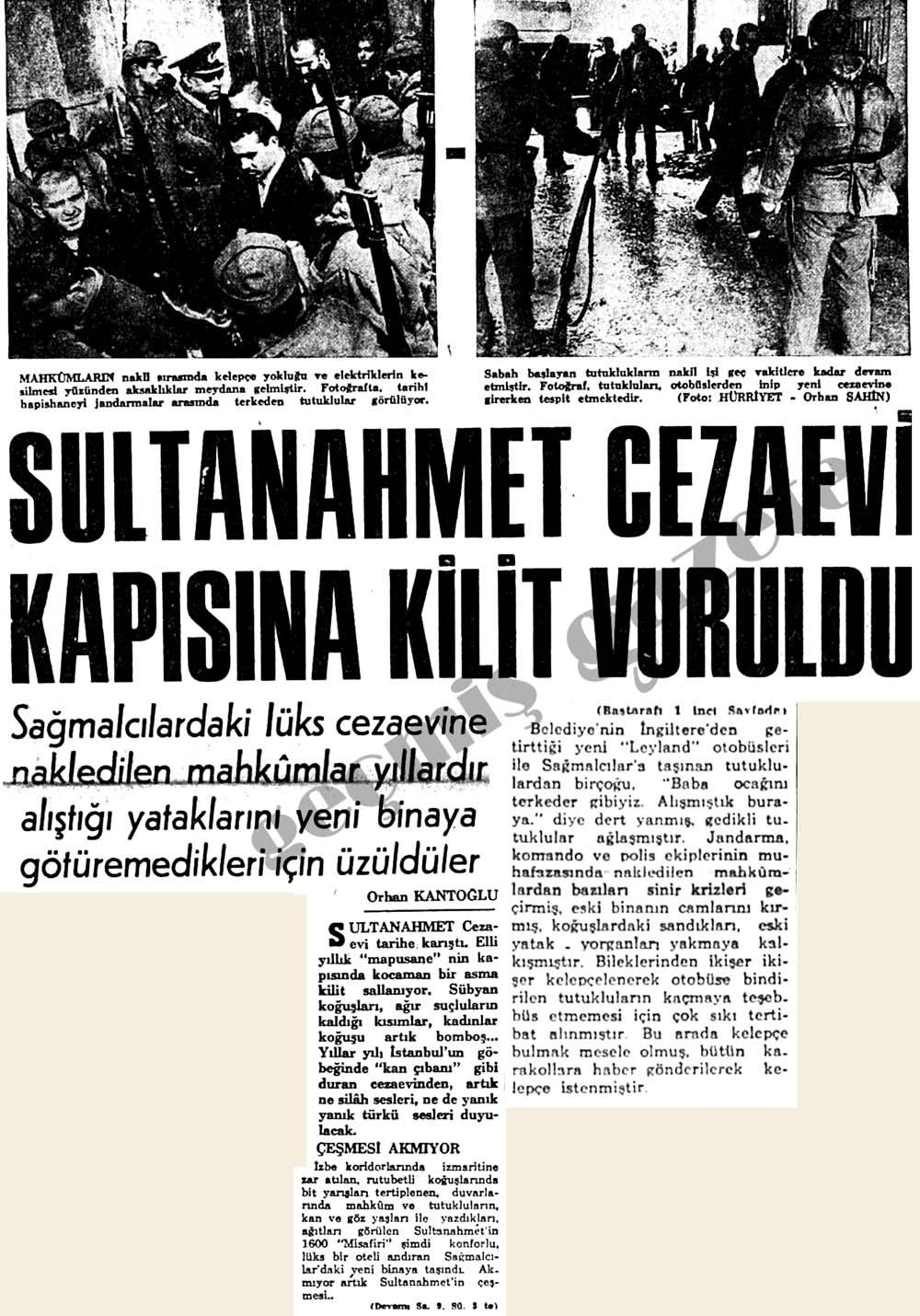 Sultanahmet Cezaevi kapısına kilit vuruldu