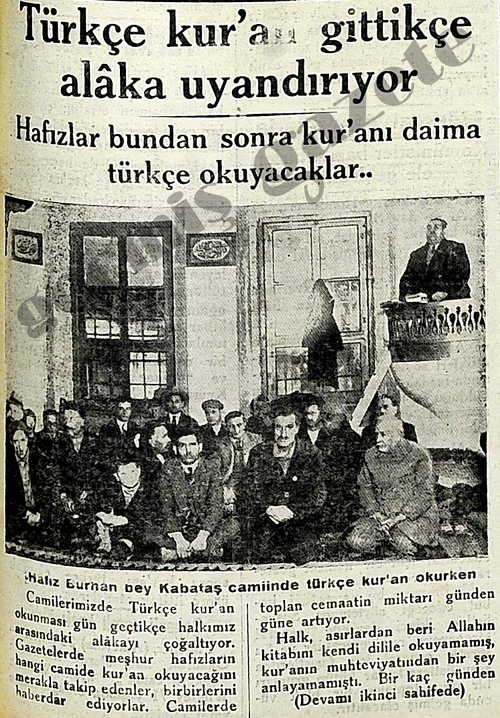 Türkçe kur'an gittikçe alaka uyandırıyor