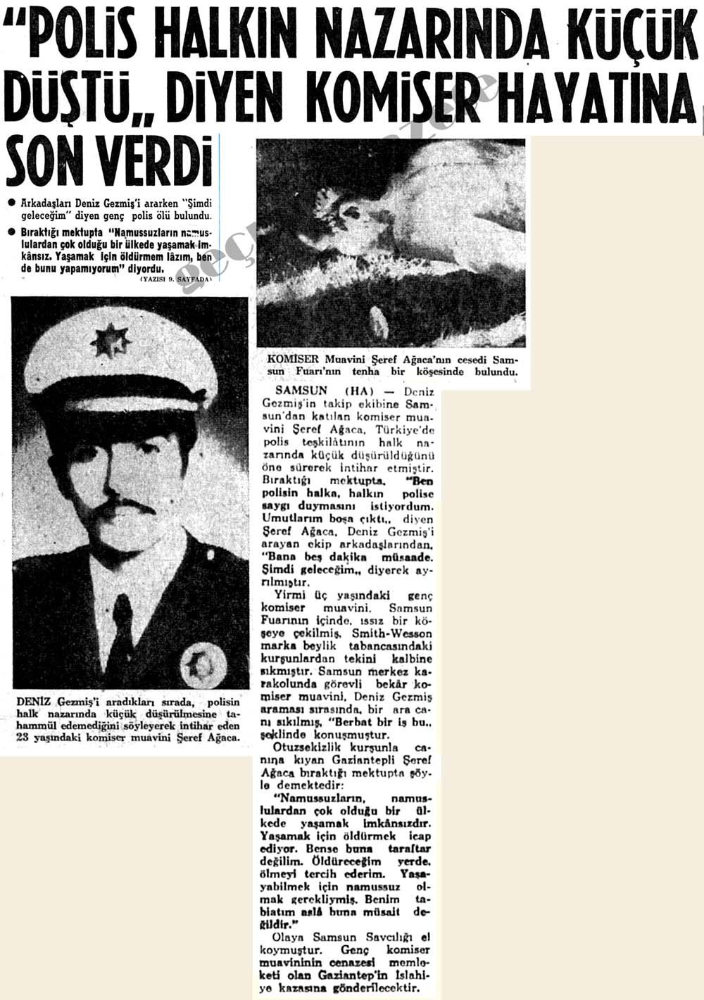 """""""Polis halkın nazarında küçük düştü"""" diyen komiser hayatına son verdi"""
