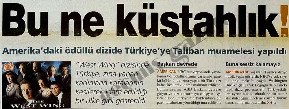 Amerika'daki ödüllü dizide Türkiye'ye Taliban muamelesi yapıldı