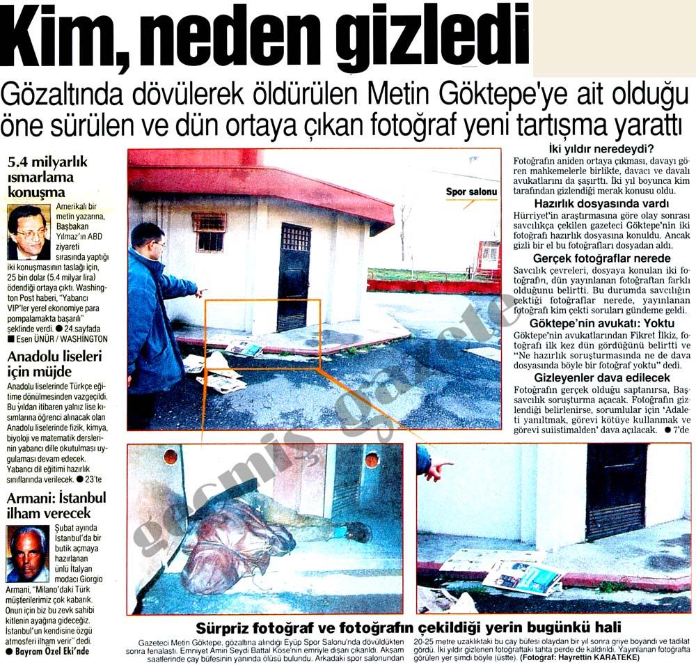 Gözaltında dövülerek öldürülen Metin Göktepe'ye ait olduğu öne sürülen fotoğraf tartışma yarattı