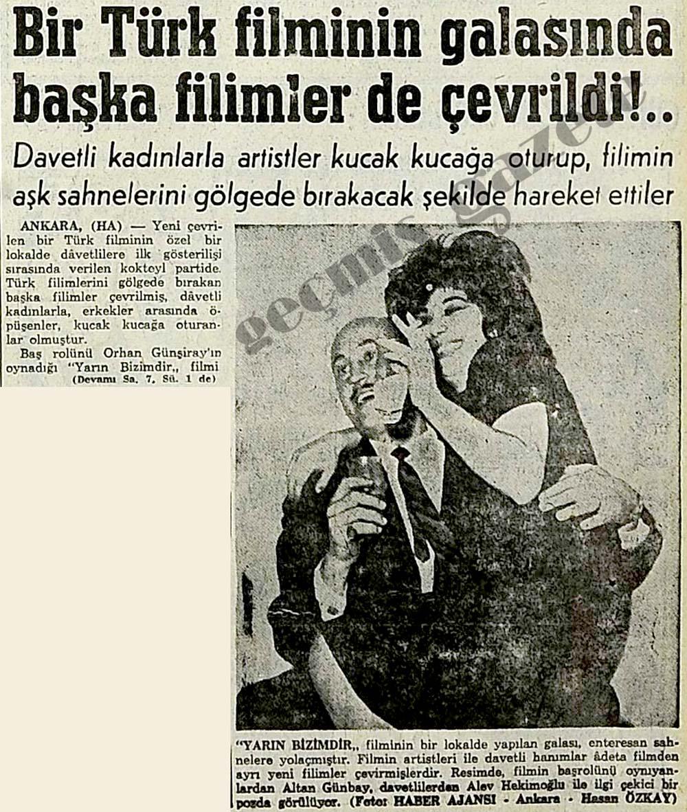 Bir Türk filminin galasında başka filimler de çevrildi!..