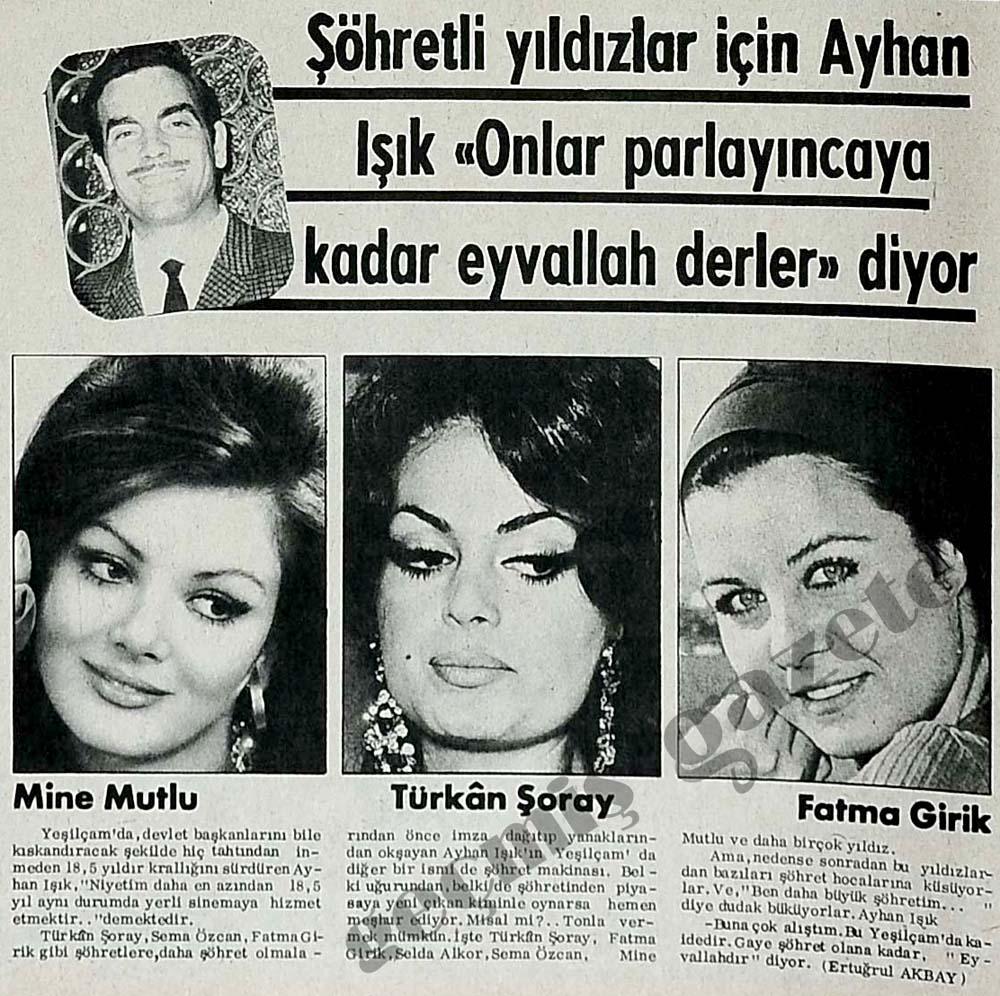 """Şöhretli yıldızlar için Ayhan Işık """"Onlar parlayıncaya kadar eyvallah derler"""" diyor"""