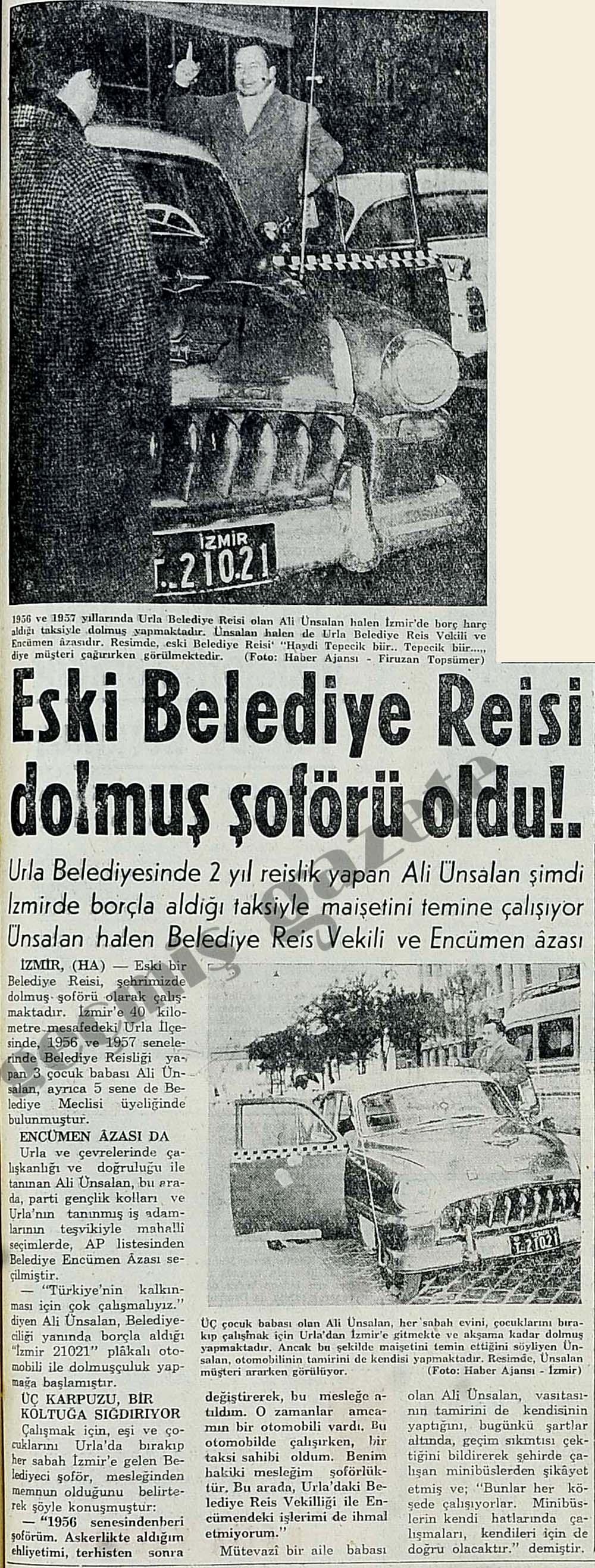 Eski Belediye Reisi dolmuş şoförü oldu!.