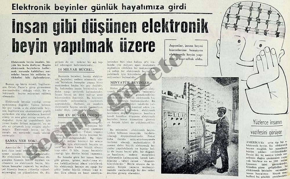 İnsan gibi düşünen elektronik beyin yapılmak üzere