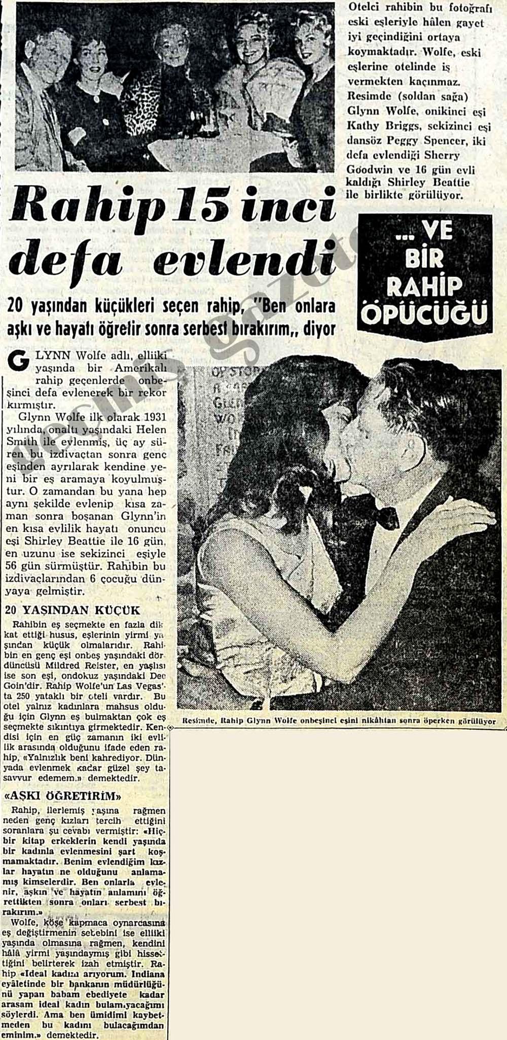 Rahip 15 inci defa evlendi