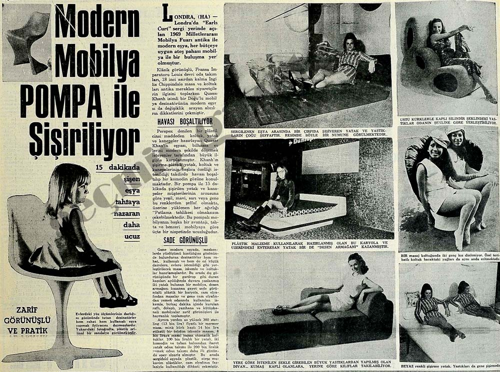 Modern Mobilya Pompa ile Şişiriliyor