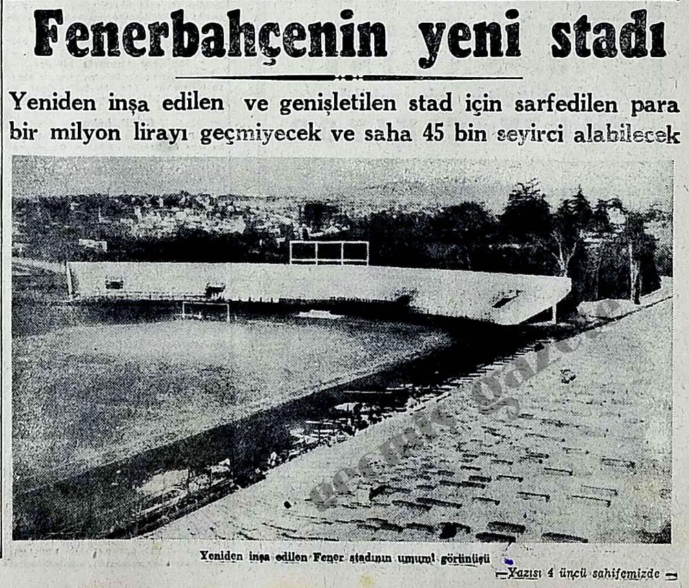Fenerbahçenin yeni stadı