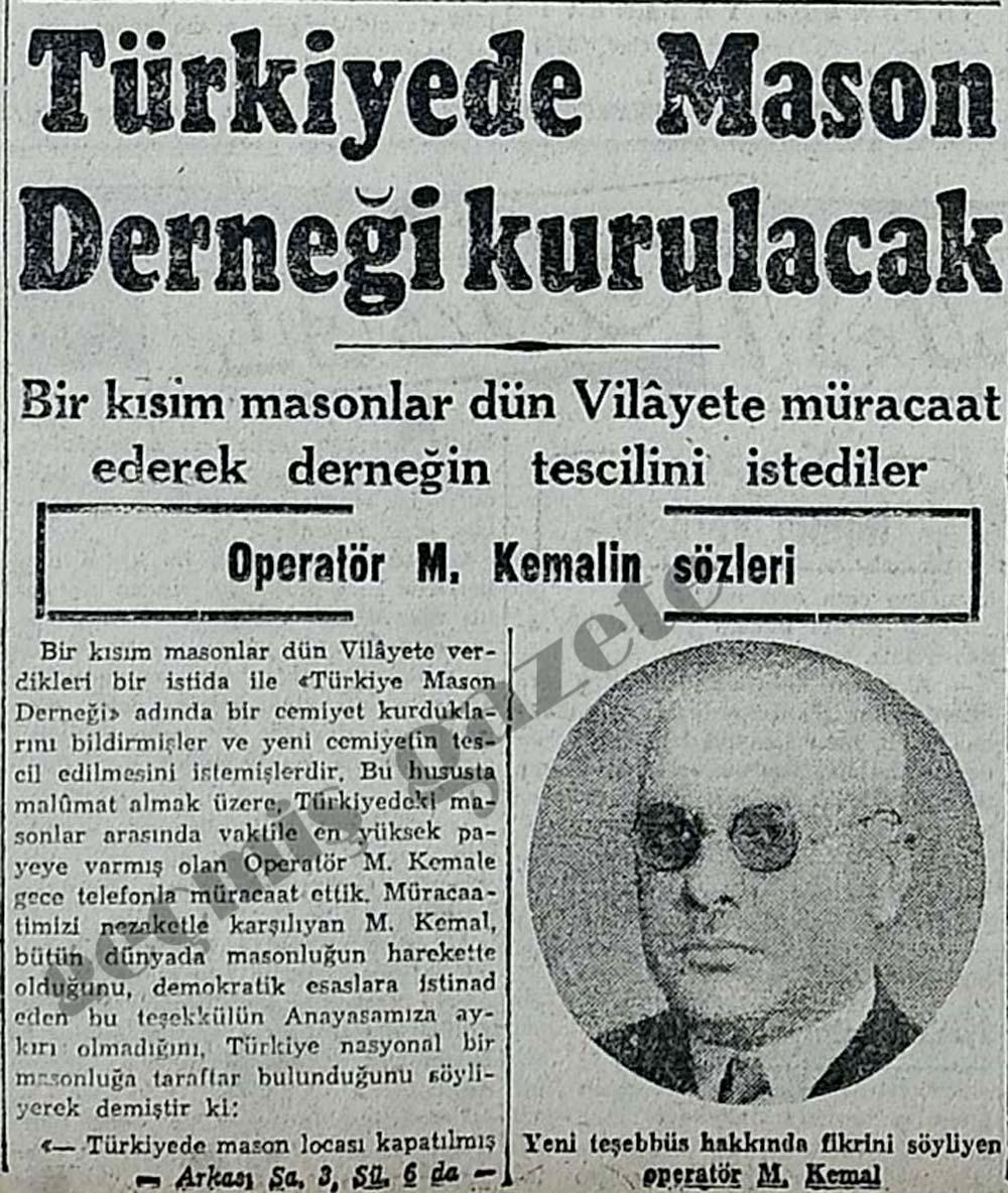 Türkiyede Mason Derneği kurulacak