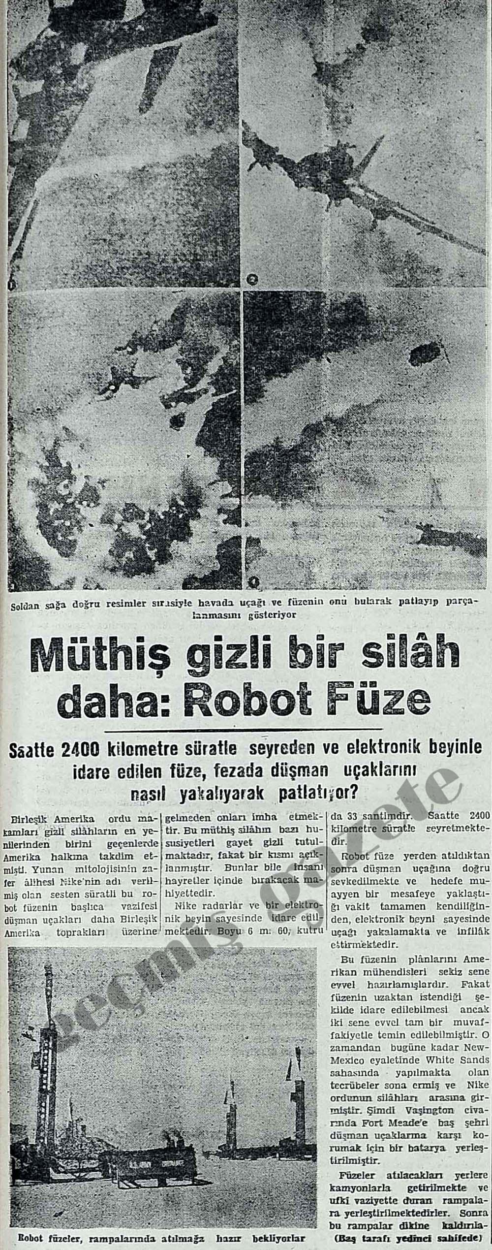 Müthiş gizli bir silah daha: Robot Füze