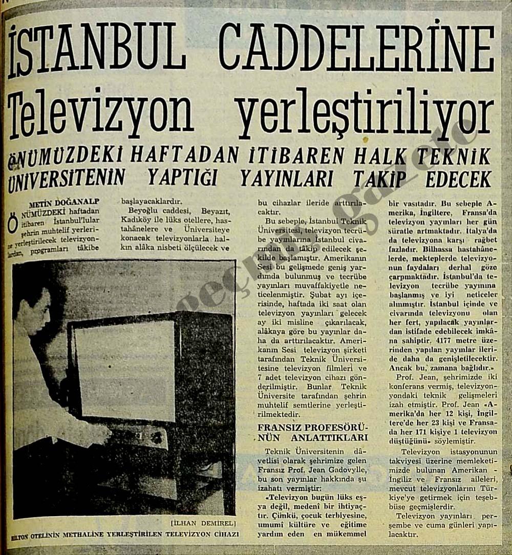 İstanbul caddelerine Televizyon yerleştiriliyor