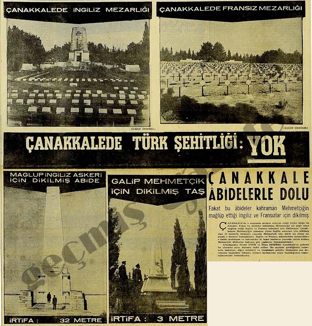 Çanakkalede Türk Şehitliği: YOK