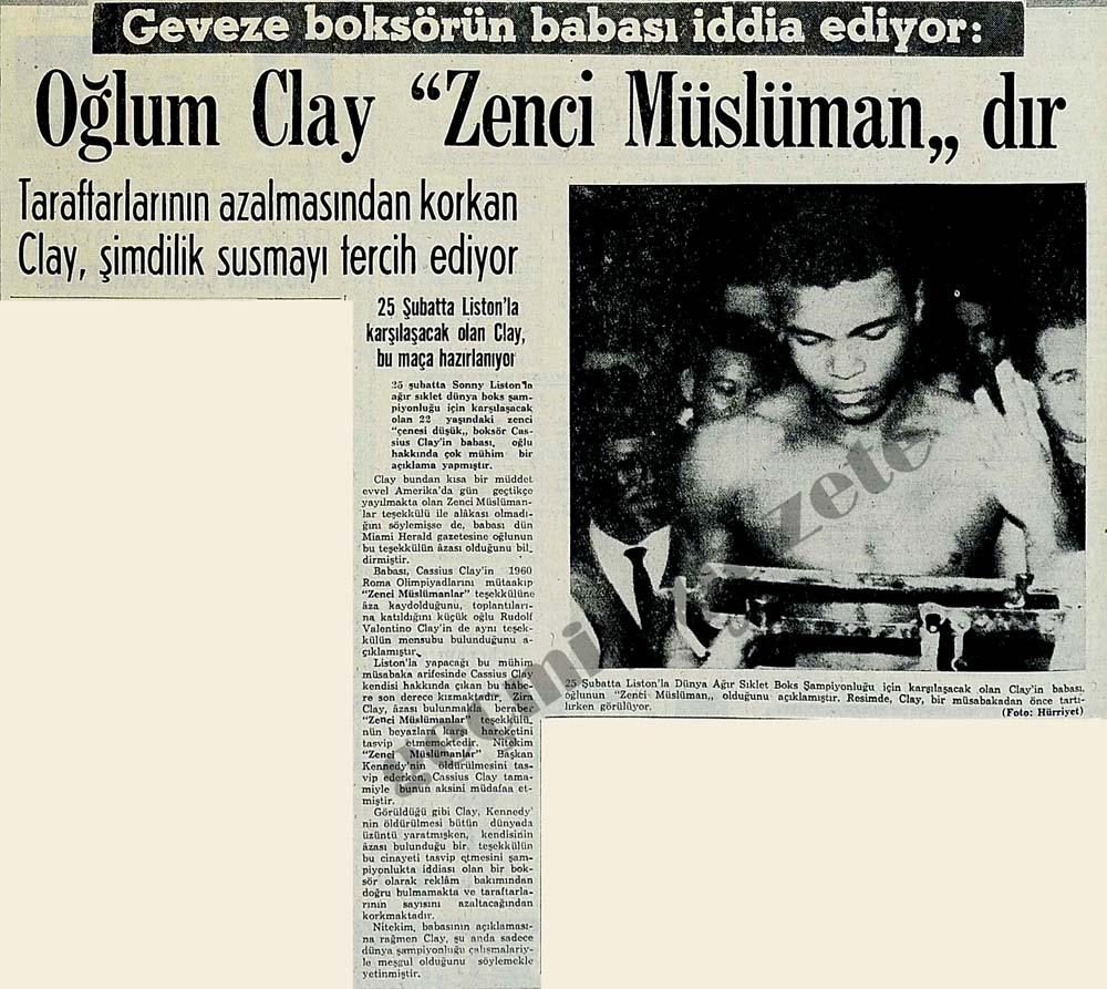 """Geveze boksörün babası iddia ediyor: Oğlum Clay """"Zenci Müslüman""""dır"""