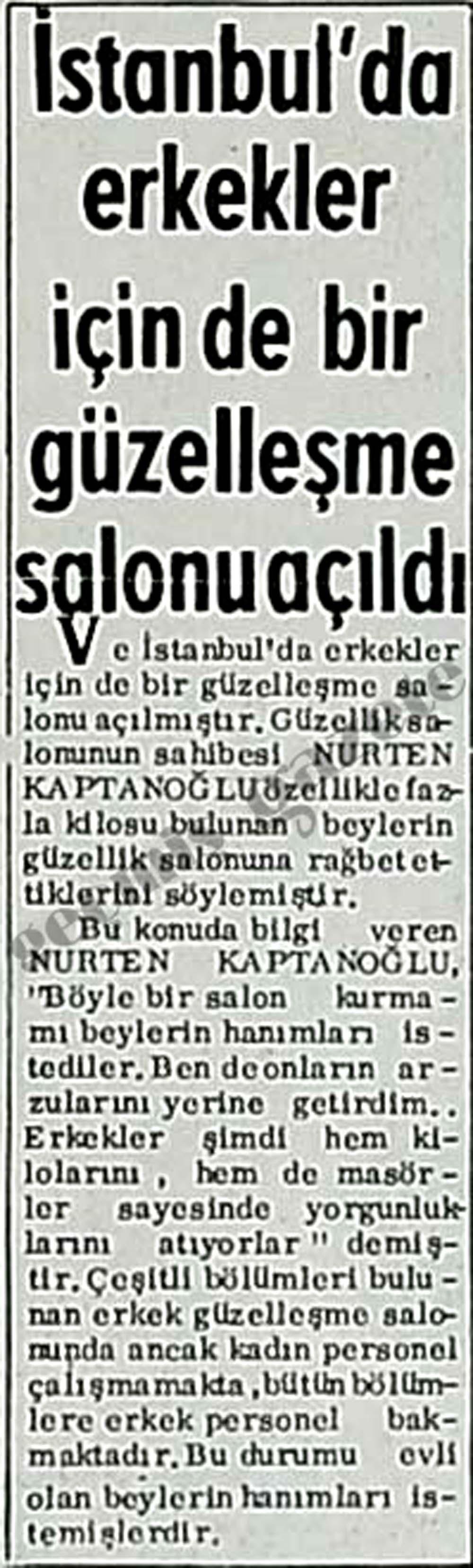 İstanbul'da erkekler için de bir güzelleşme salonu açıldı