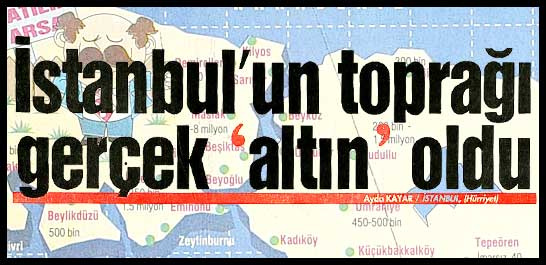 İstanbul'un toprağı gerçek 'altın' oldu