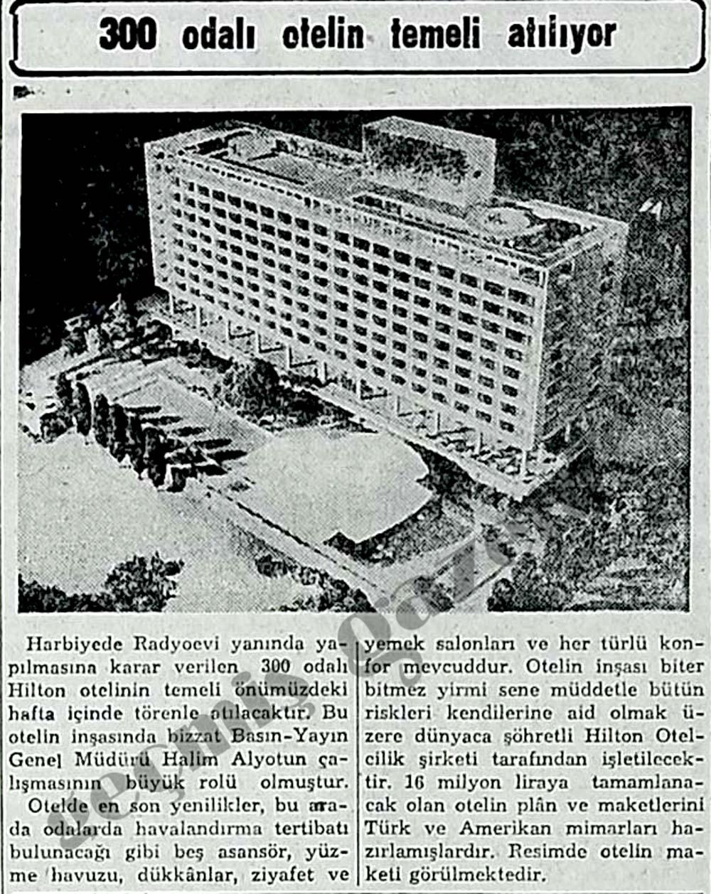 300 odalı Hilton otelinin temeli atılıyor