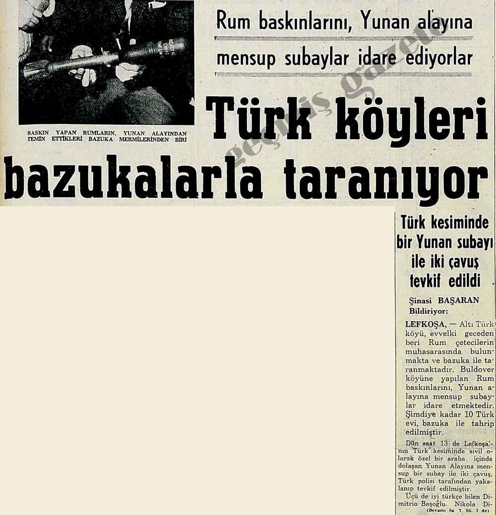 Türk köyleri bazukalarla taranıyor