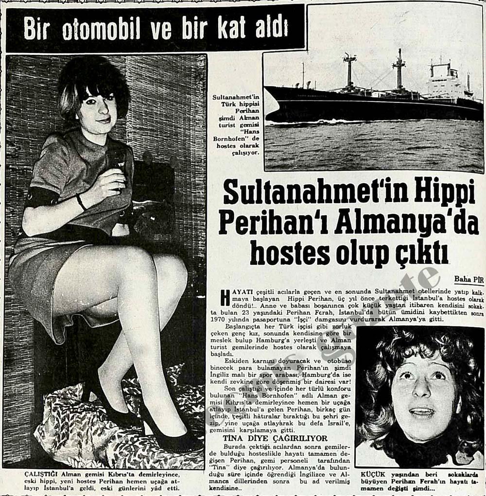 Sultanahmet'in Hippi Perihan'ı Almanya'da hostes olup çıktı
