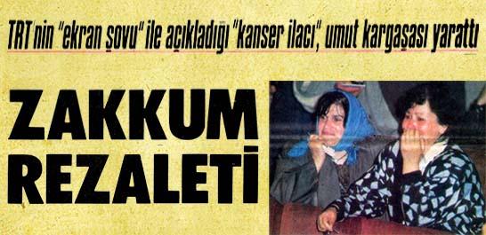 """TRT'nin """"ekran şovu"""" ile açıkladığı """"kanser ilacı"""", umut kargaşası yarattı"""