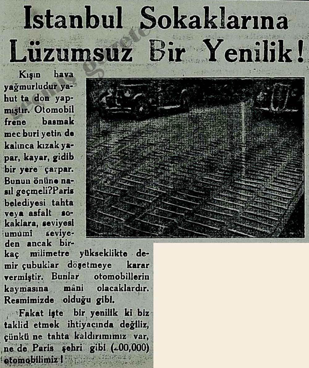 İstanbul Sokaklarına Lüzumsuz Bir Yenilik!