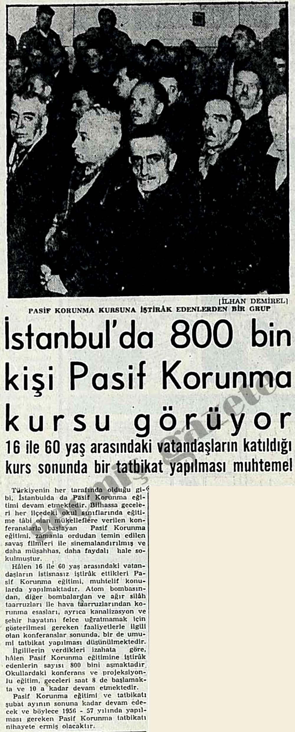 İstanbul'da 800 bin kişi Pasif Korunma kursu görüyor