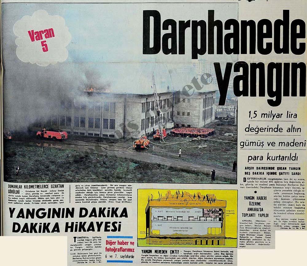 Darphanede yangın