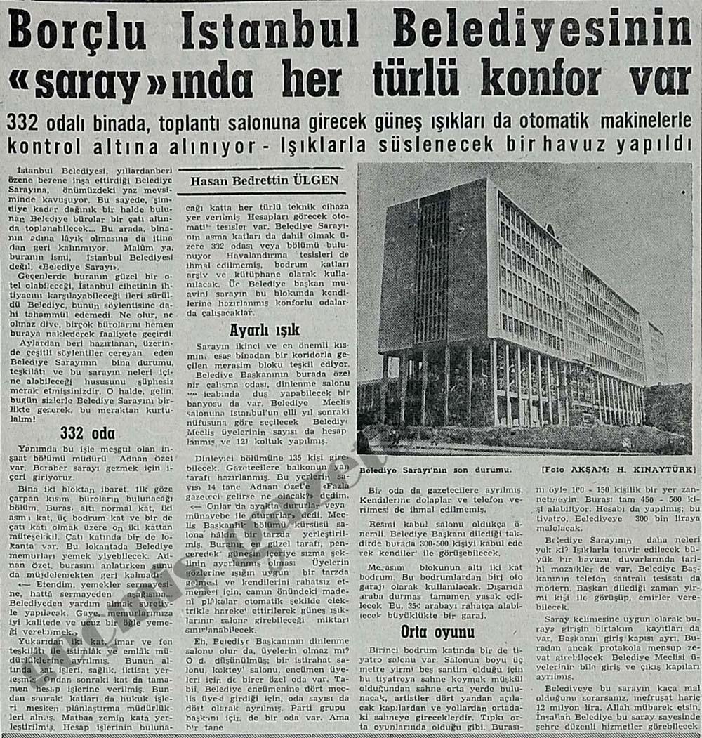 """Borçlu İstanbul Belediyesinin """"saray""""ında her türlü konfor var"""