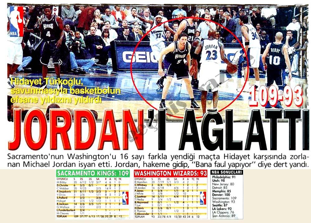 Jordan'ı ağlattı