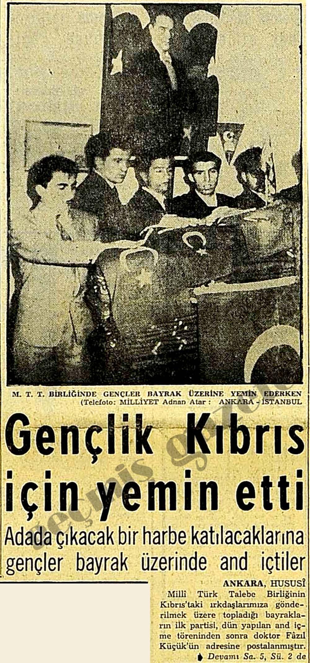 Gençlik Kıbrıs için yemin etti