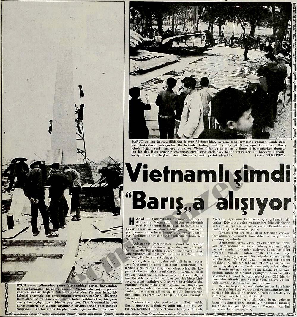 """Vietnamlı şimdi """"Barış""""a alışıyor"""