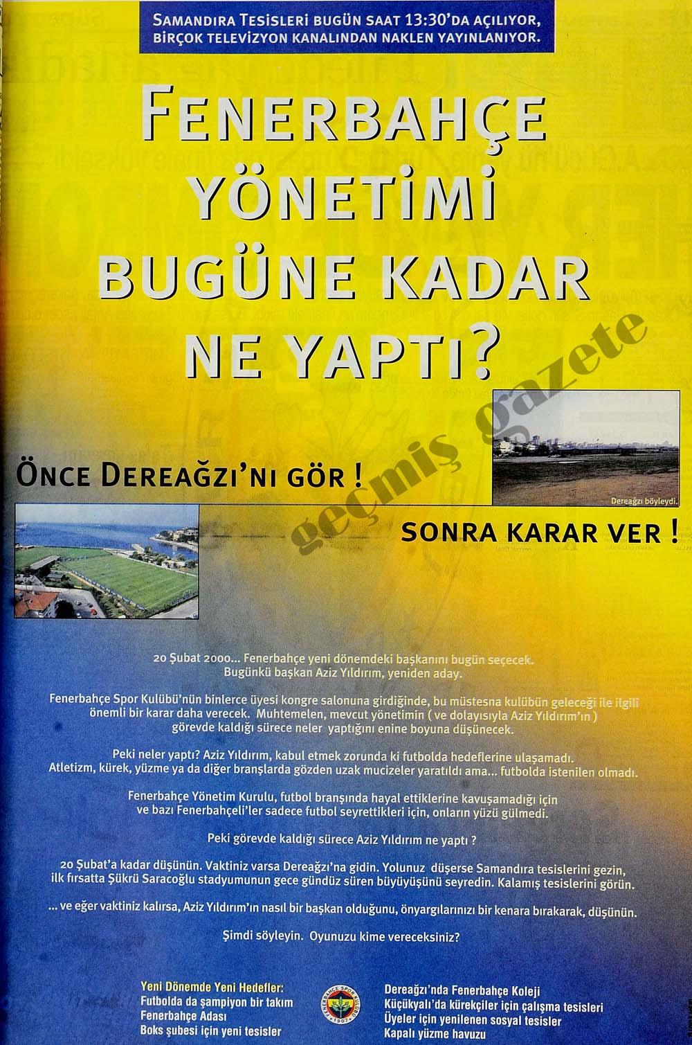 Fenerbahçe yönetimi bugüne kadar ne yaptı?