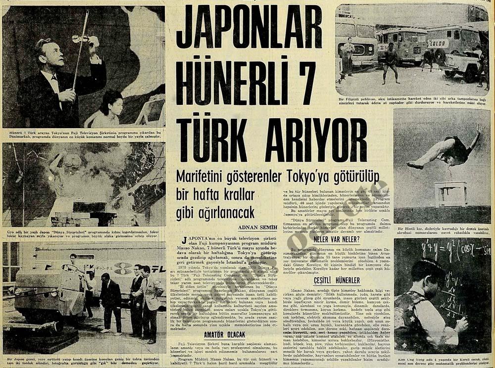 Japonlar hünerli 7 Türk arıyor