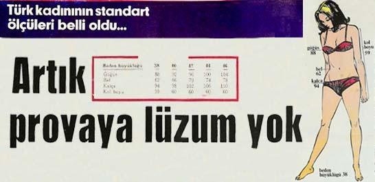 Türk kadınının standart ölçüleri belli oldu...