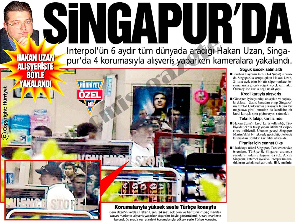 Hakan Uzan alışverişte böyle yakalandı: Singapur'da