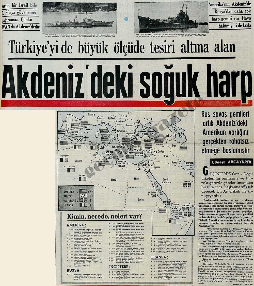 Türkiye'yi büyük ölçüde tesiri altına alan Akdeniz'deki soğuk harp