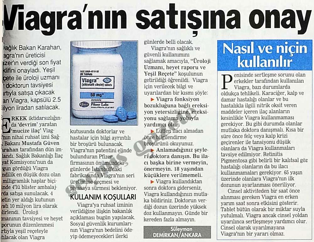 Viagra'nın satışına onay