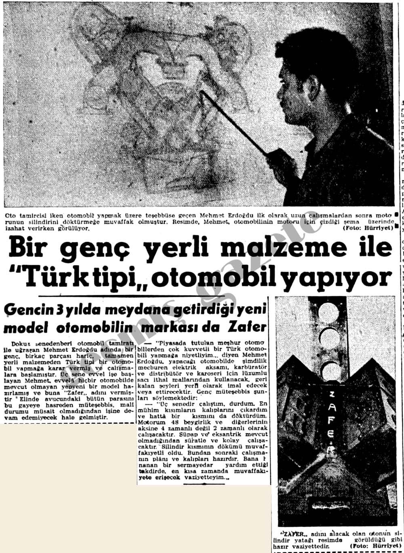 """Bir genç yerli malzeme ile """"Türk tipi"""" otomobil yapıyor"""