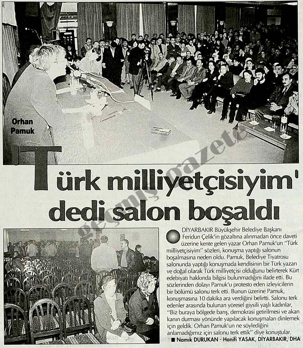 Orhan Pamuk 'Türk milliyetçisiyim' dedi salon boşaldı