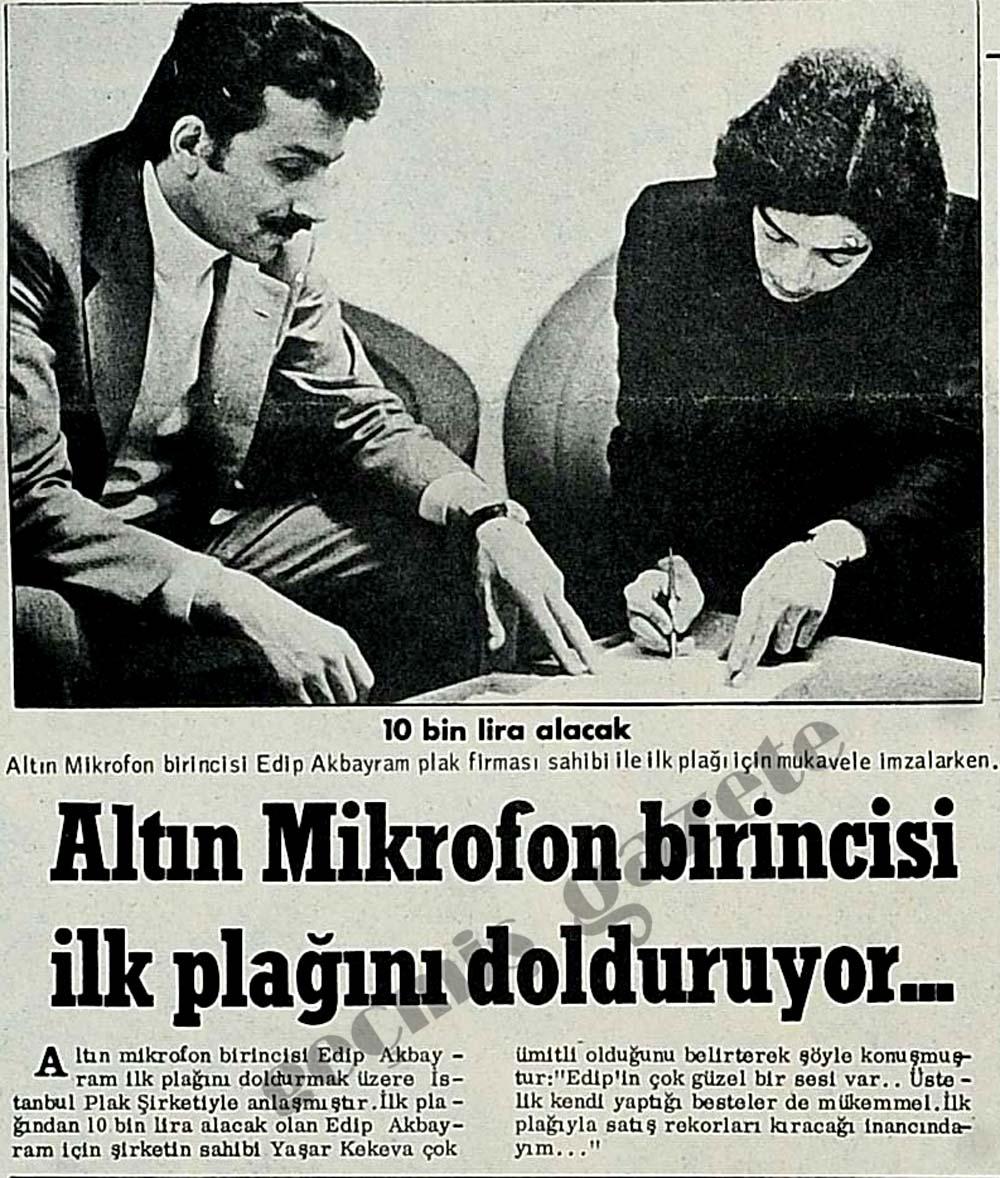Altın mikrofon birincisi Edip Akbayram