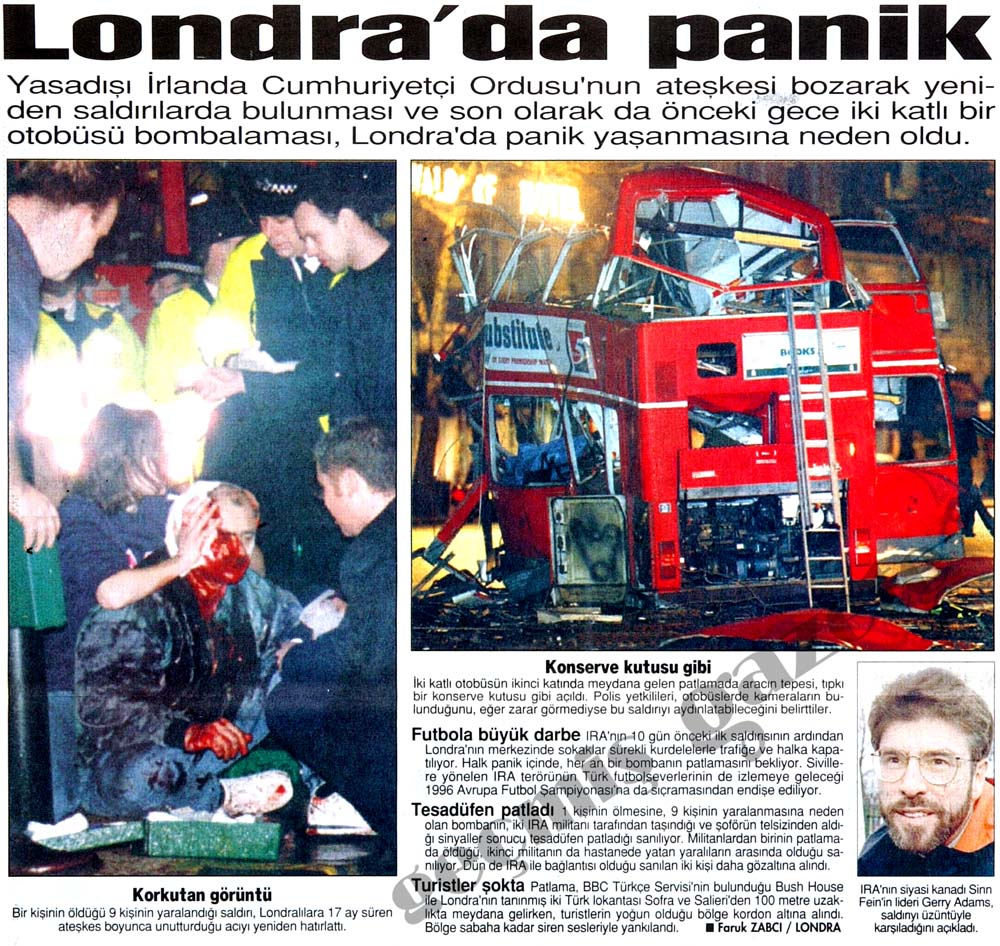 Londra'da panik