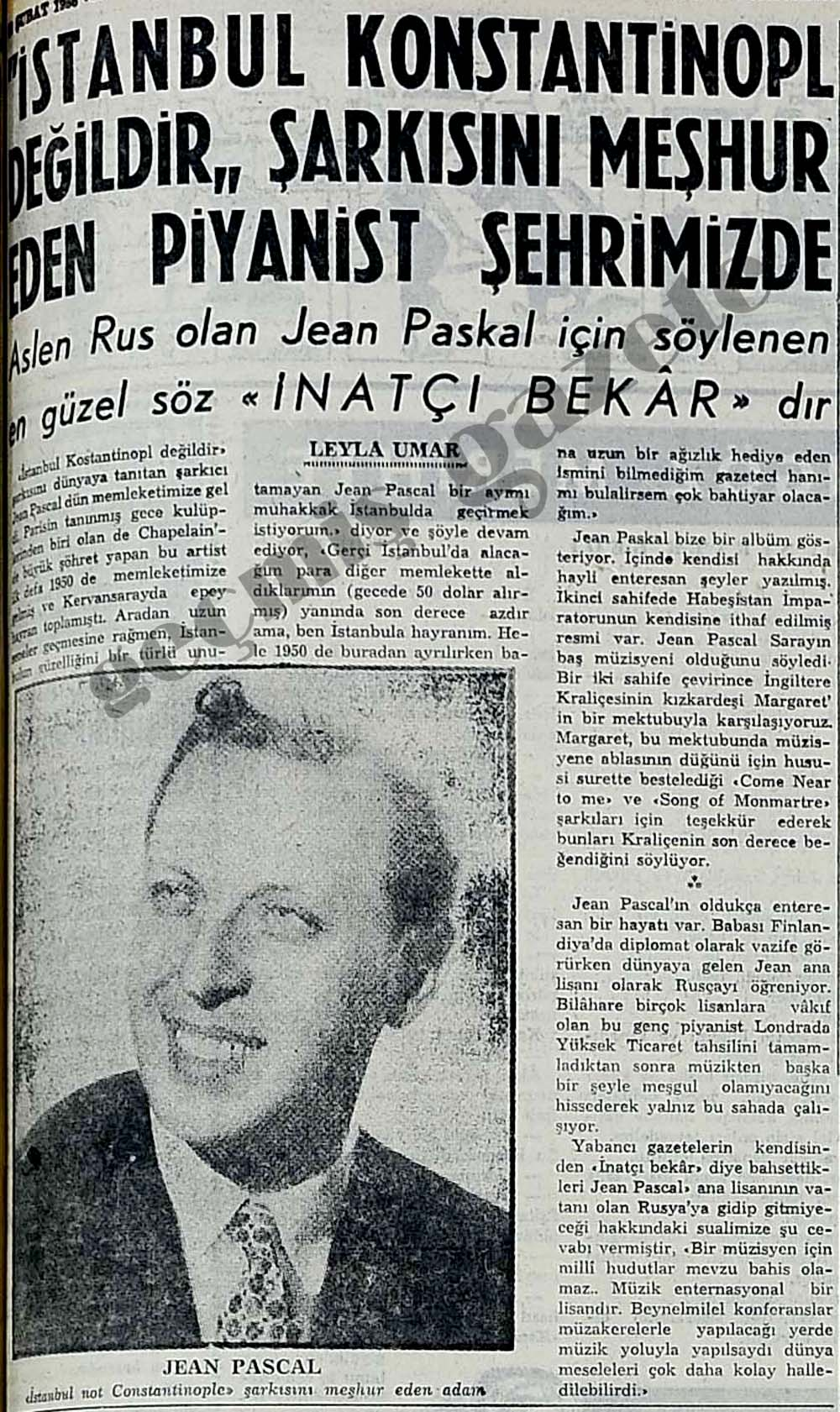 """""""İstanbul Konstantinopl değildir"""" şarkısını meşhur eden piyanist şehrimizde"""