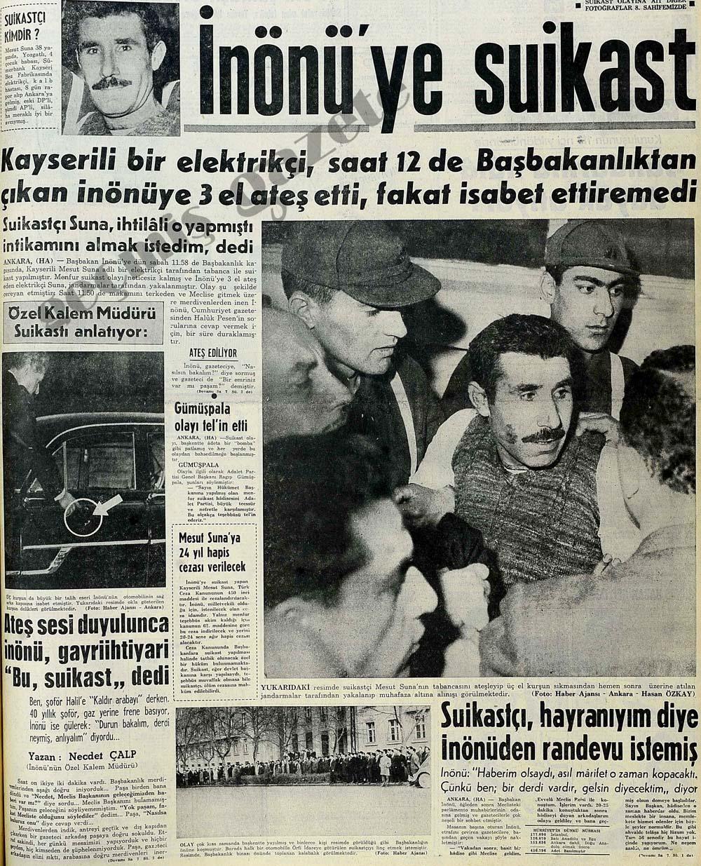 İnönü'ye suikast