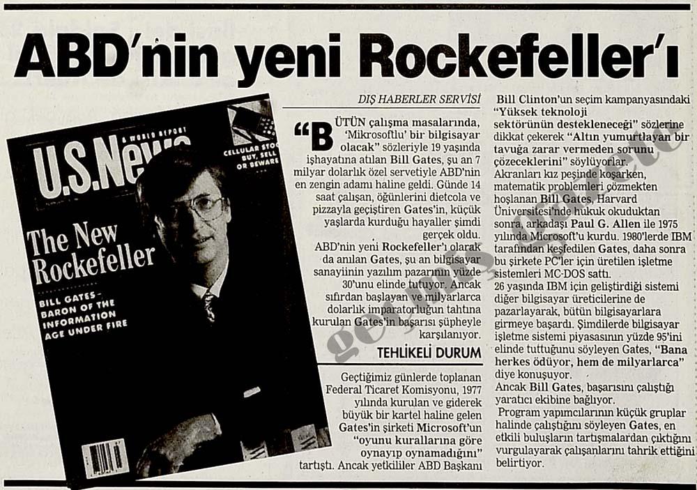 ABD'nin yeni Rockefeller'ı Bill Gates