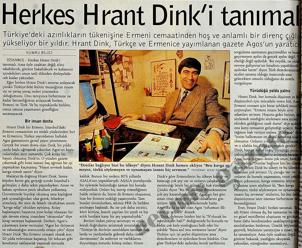 Herkes Hrant Dink'i tanımalı
