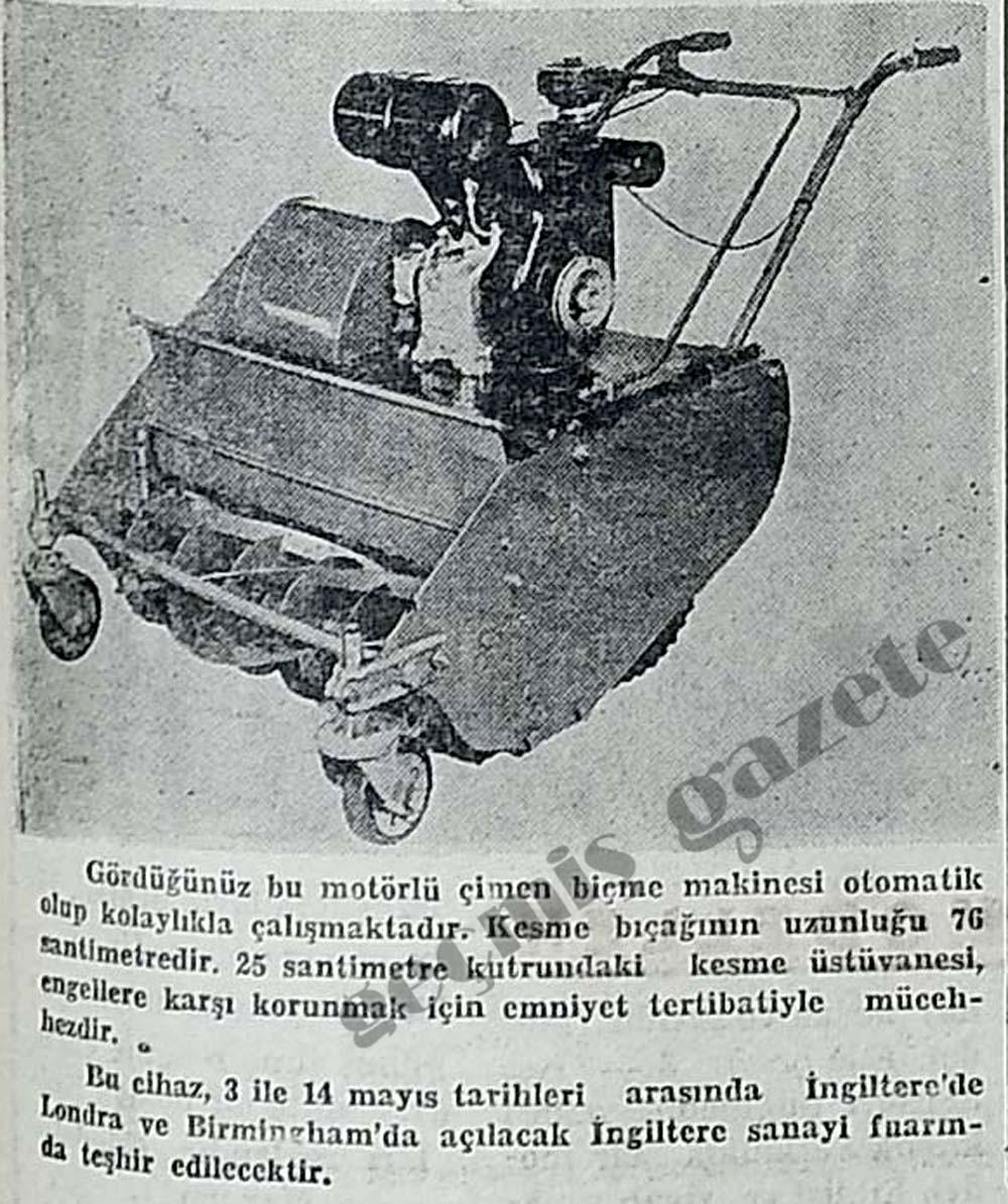 Motörlü çimen biçme makinesi