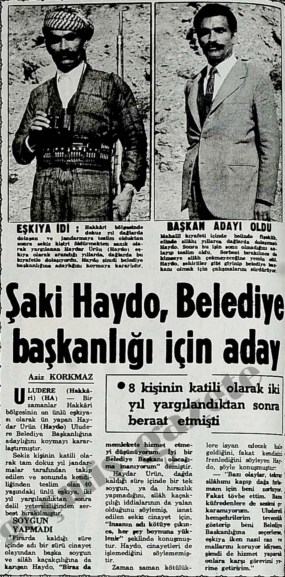 Şaki Haydo, Belediye başkanlığı için aday