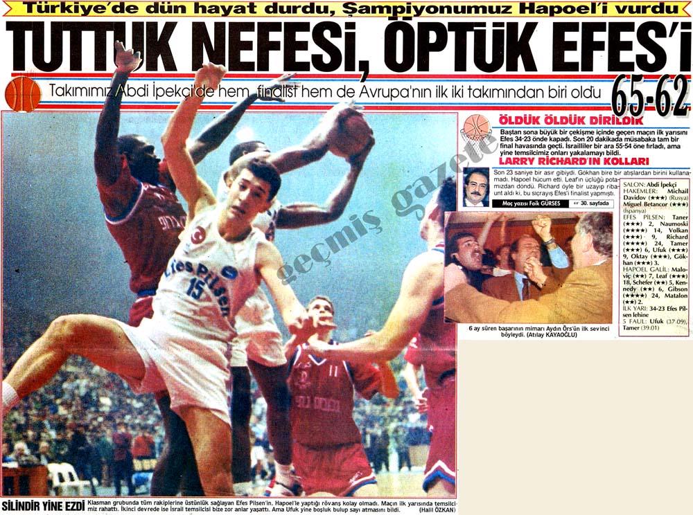 Türkiye'de dün hayat durdu, Şampiyonumuz Hapoel'i vurdu