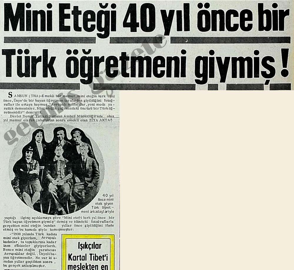 Mini Eteği 40 yıl önce bir Türk öğretmeni giymiş!