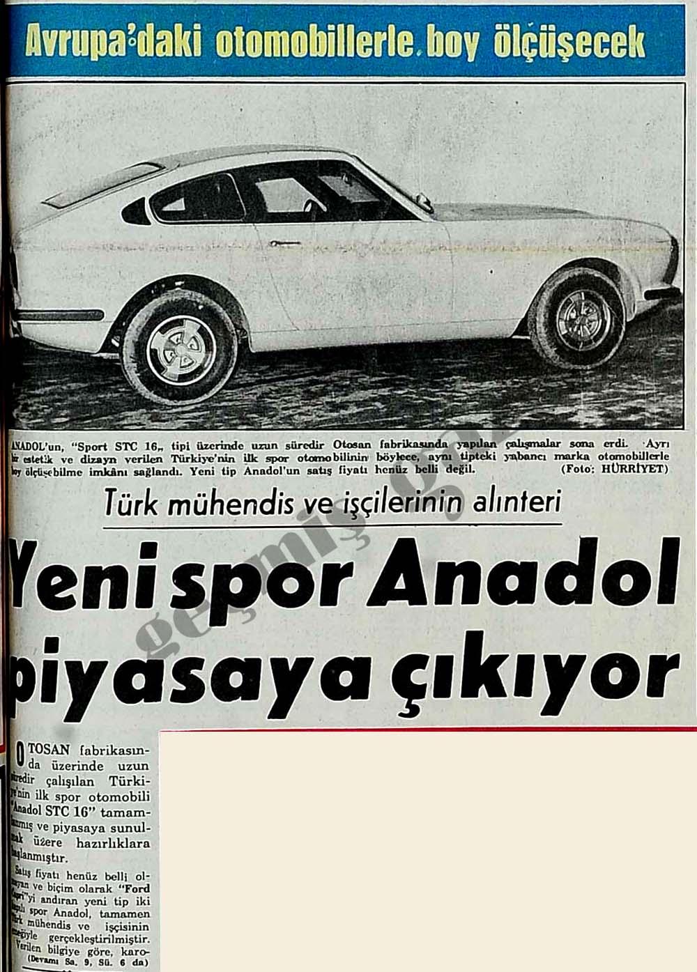 Yeni spor Anadol piyasaya çıkıyor